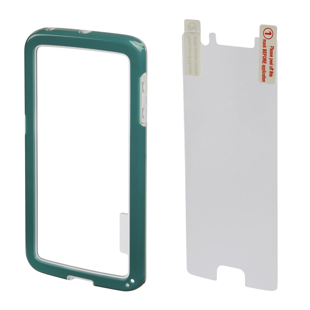 Hama Edge Protector Cover for Samsung Galaxy S6 Edge + Screen Protector, green