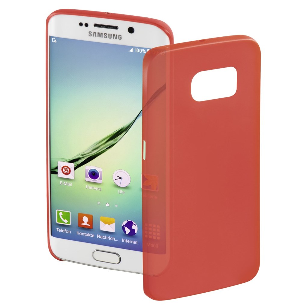 Hama Ultra Slim Cover for Samsung Galaxy S6 Edge, red