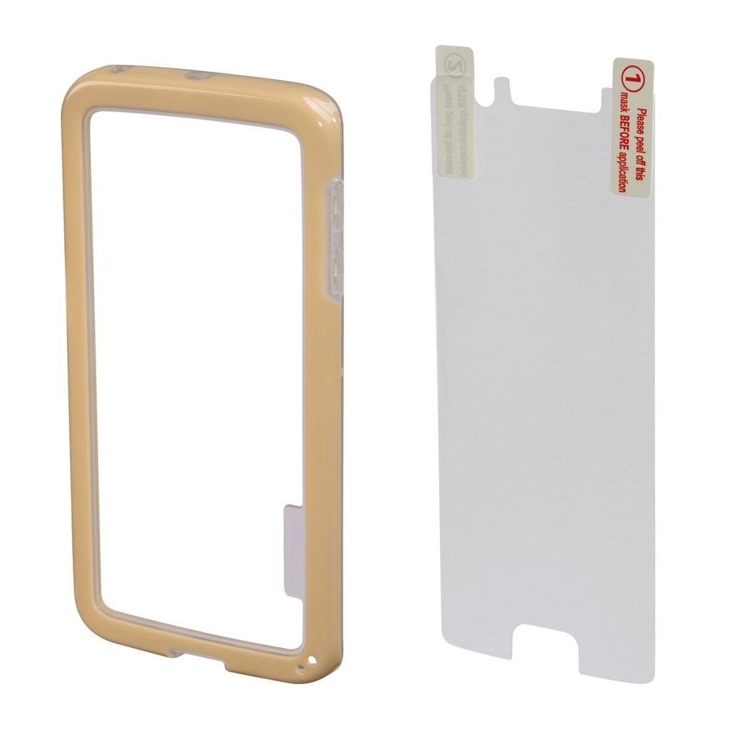Hama Edge Protector Cover for Samsung Galaxy S6 Edge + Screen Protector, gold