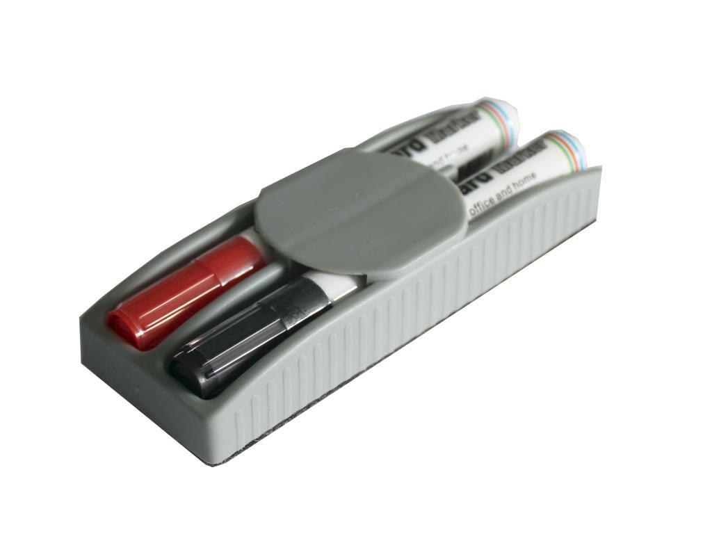 BASICSET DUO - magnetická stěrka s 2 popisovači
