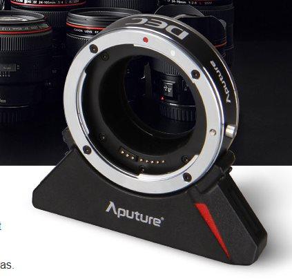 Aputure dálkově ovládaný DEC adaptér pro objektivy Canon na úchyt E-mount