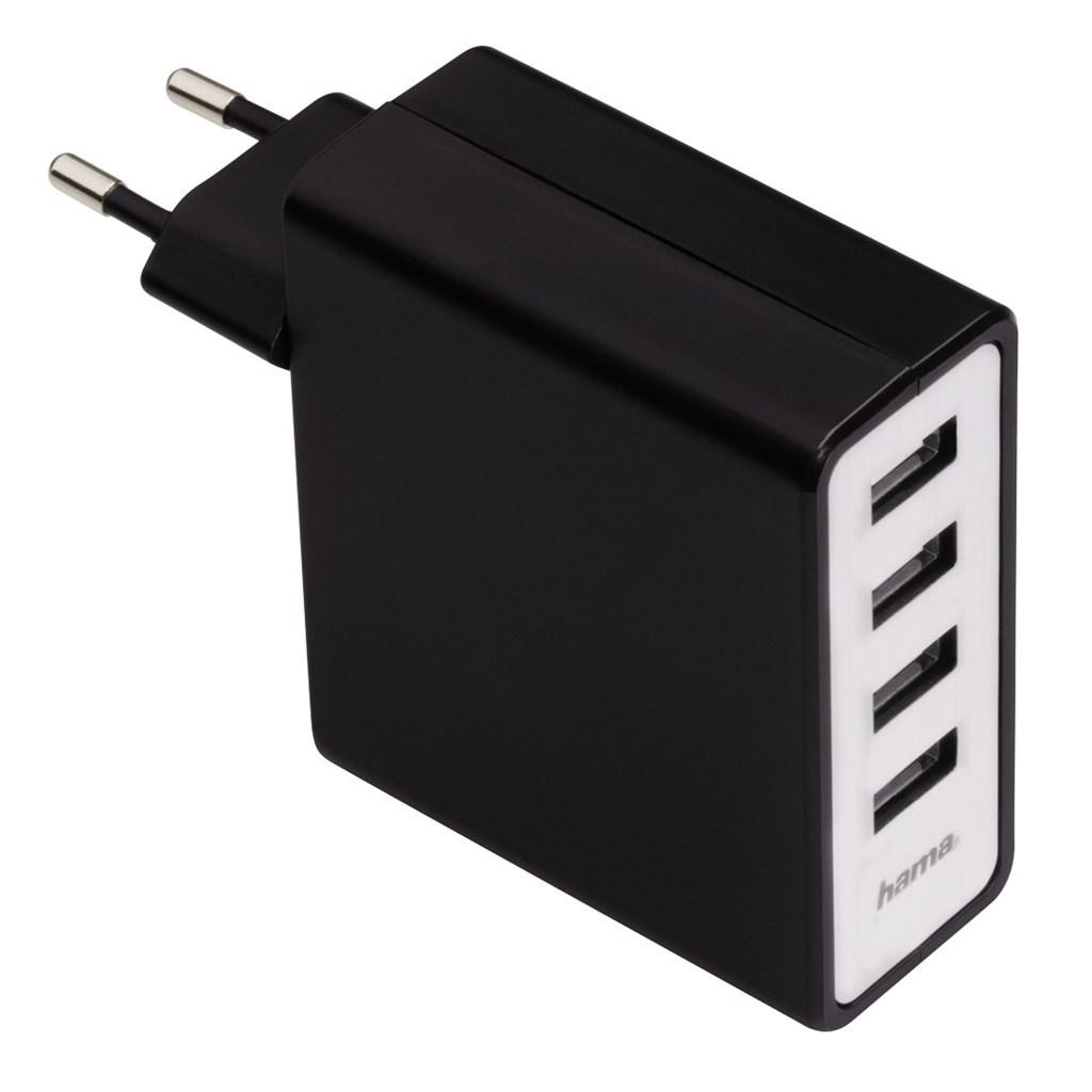 Hama síťová USB nabíječka, 4zásuvková, 5,1 A