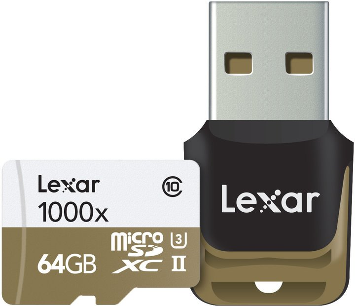 Lexar micro SDXC UHS-II (Class 10) 64GB
