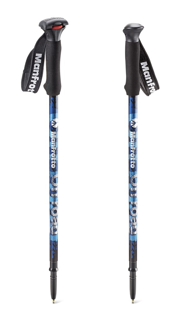 Manfrotto OFF ROAD - WALKING STICK BLUE, trekingové hole modré