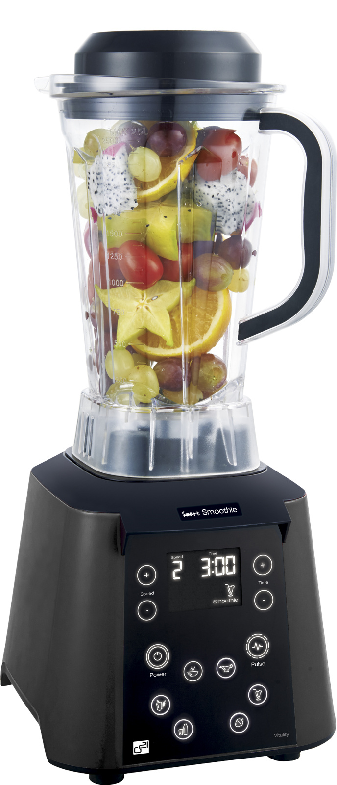 Blender G21 Smart smoothie, Vitality graphite black