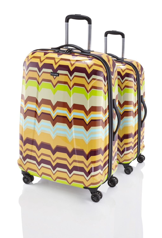 Travelite Graphix 2w S, 4w M,L Yellow zigzag – sada 3 kufrů