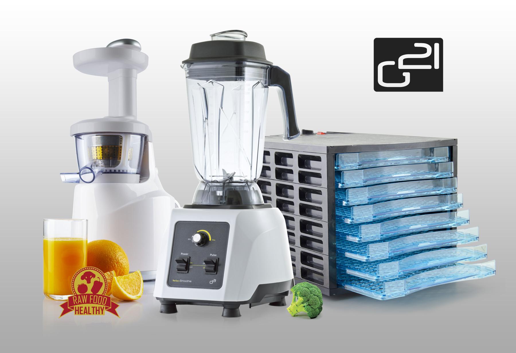 RAW set G21 Economy - Mixér, sušička, odšťavňovač