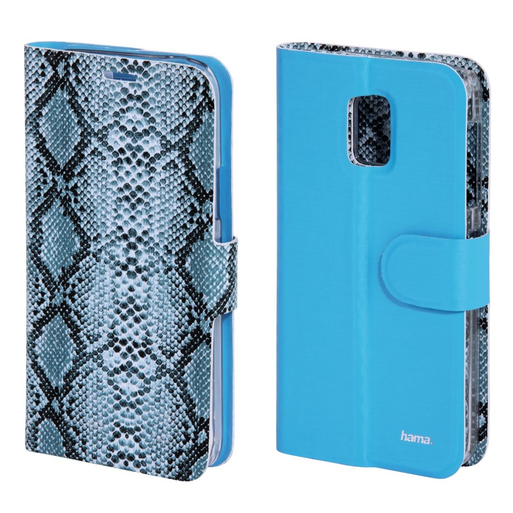 Hama Snake/Uni Reversible Booklet Case for Samsung Galaxy S5 mini, light blue