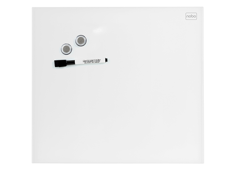Skleněná magnetická tabule bílá 30x30 cm