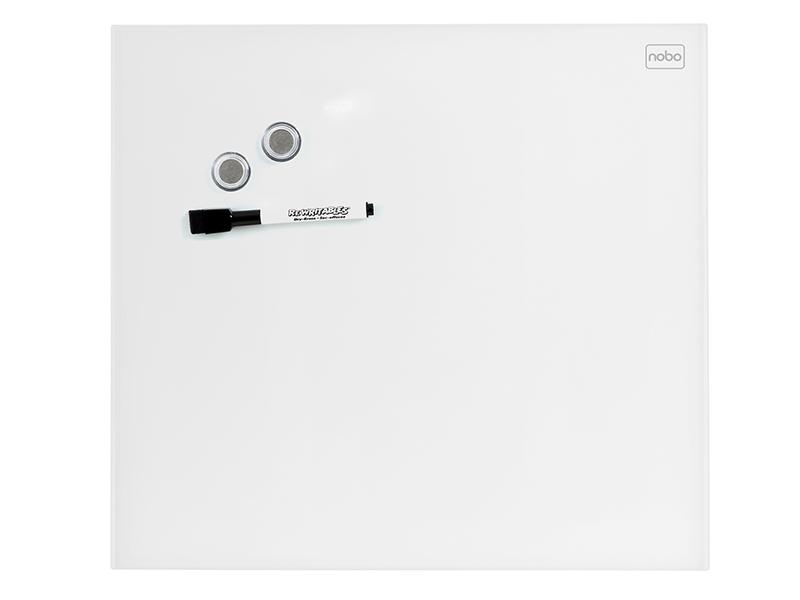 Skleněná magnetická tabule bílá 45x45 cm