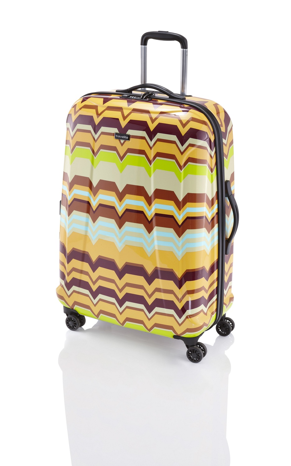 Travelite Graphix 4w M Yellow zigzag