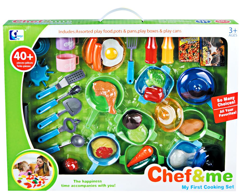 Hračka G21 Dětské plastové nádobí s jídlem 30ks