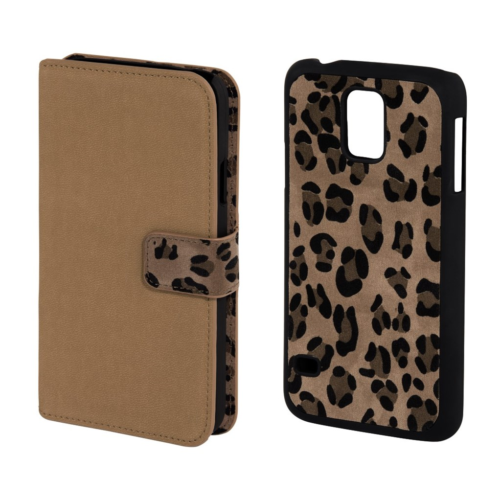 Hama Leo 2in1 Booklet Case for Samsung Galaxy S5, beige