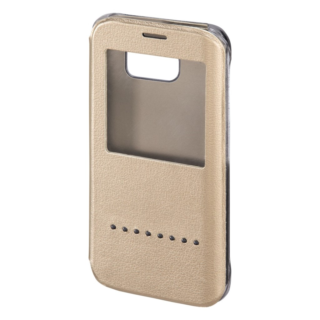 Hama Window Booklet Case for Samsung Galaxy S6 Edge, gold