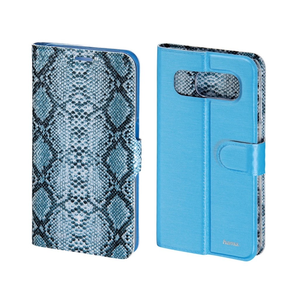 Hama Snake/Uni Reversible Booklet Case for Samsung Galaxy S6, sky blue