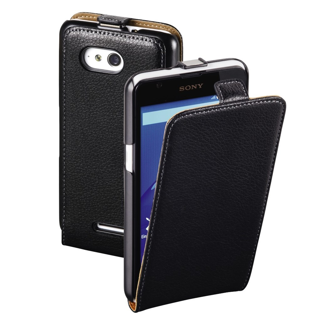 Hama Smart Case Flap Case for Sony Xperia E4g, black