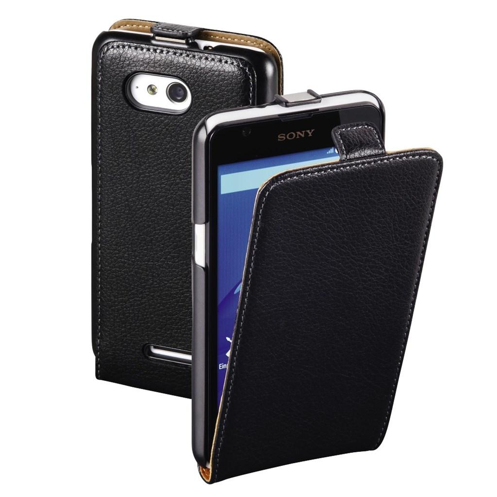 Hama Smart Case Flap Case for Sony Xperia E4g, black