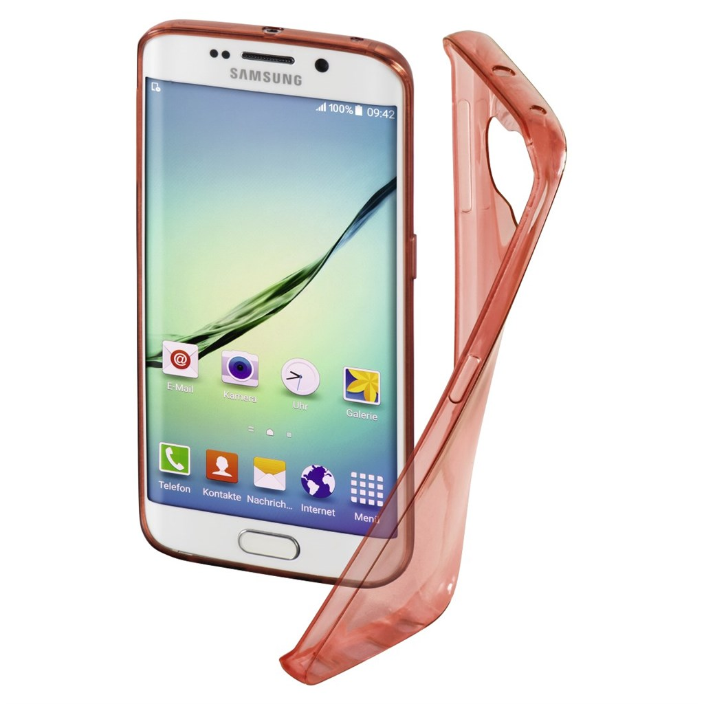 Hama Clear Cover for Samsung Galaxy S6 Edge, marsala