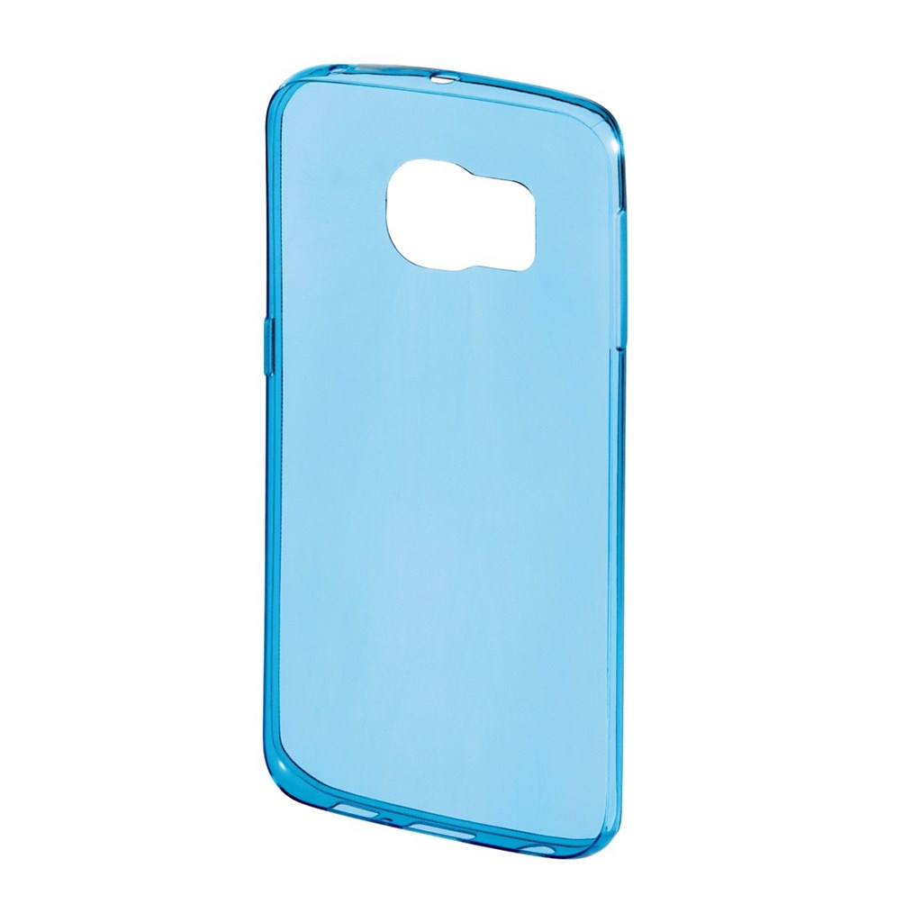 Hama Clear Cover for Samsung Galaxy S6 Edge, blue