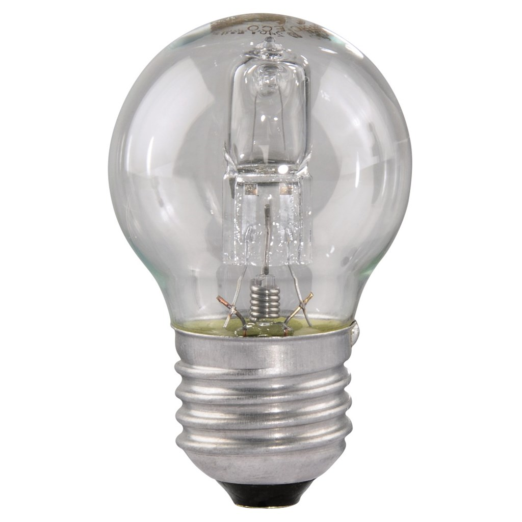 Xavax halogenová žárovka, 230 V, 28 W (=37 W), E27, kapka, teplá bílá, 1 ks v krabičce