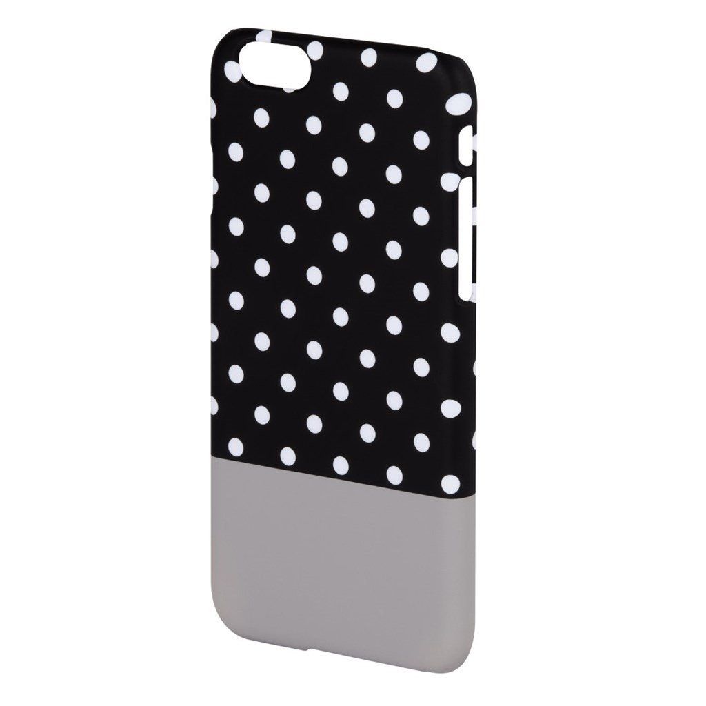 Hama Lovely Dots Cover for Apple iPhone 6, black/grey
