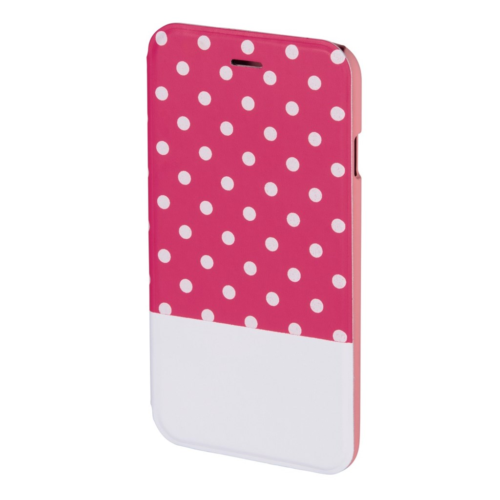 Hama Lovely Dots Booklet Case for Apple iPhone 6, pink/white