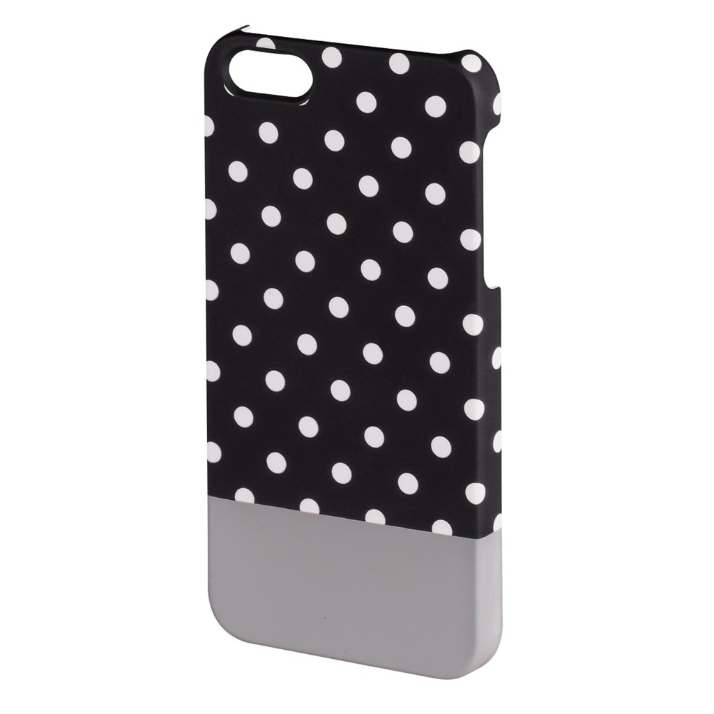 Hama Lovely Dots Cover for Apple iPhone 5/5s, black/grey