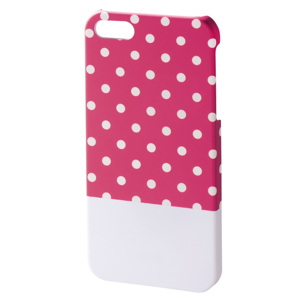 Hama Lovely Dots Cover for Apple iPhone 5/5s, pink/white