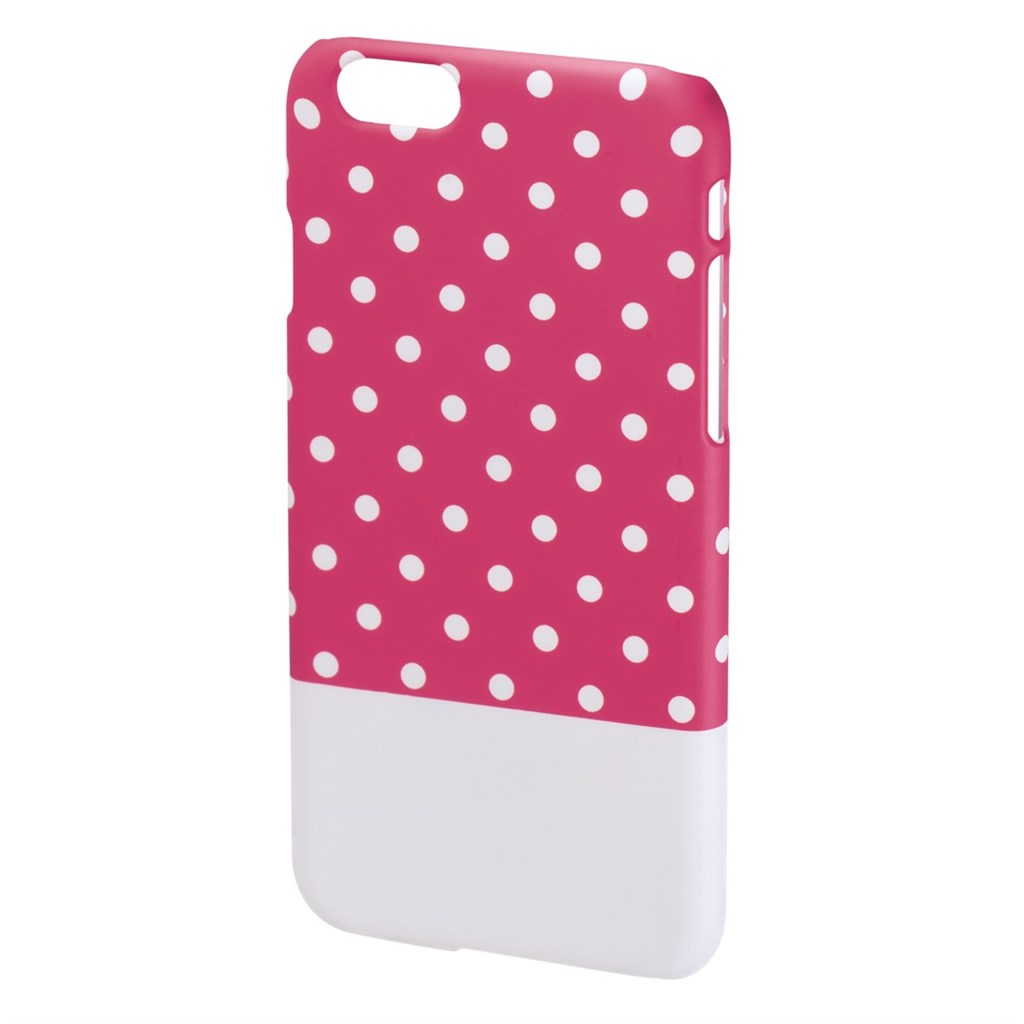 Hama Lovely Dots Cover for Apple iPhone 6, pink/white