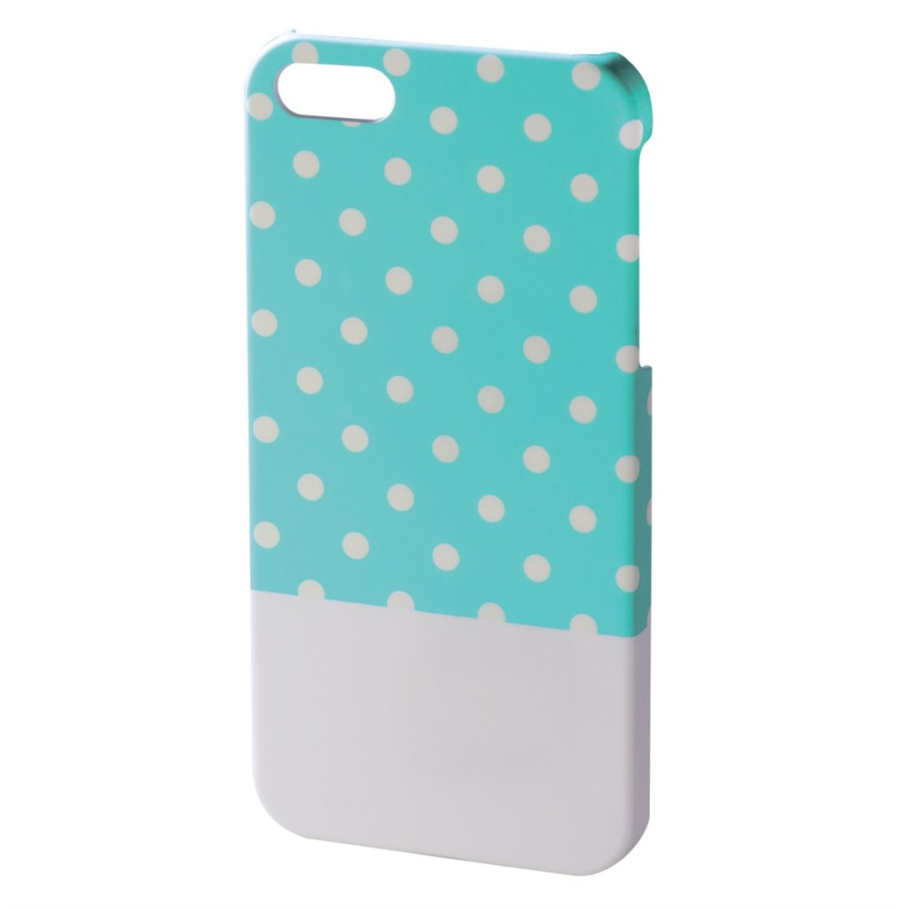 Hama Lovely Dots Cover for Apple iPhone 5/5s, mint/white