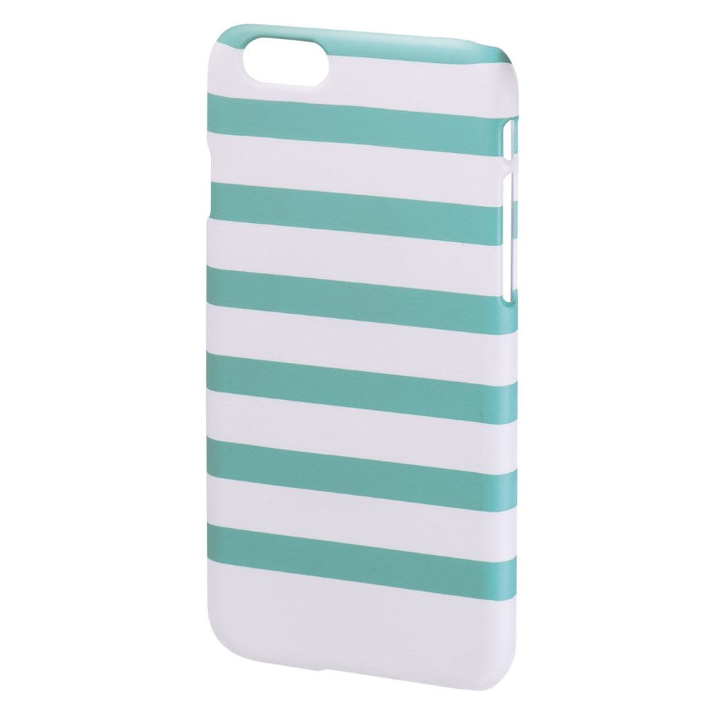 Hama Stripes Cover for Apple iPhone 6, mint/white