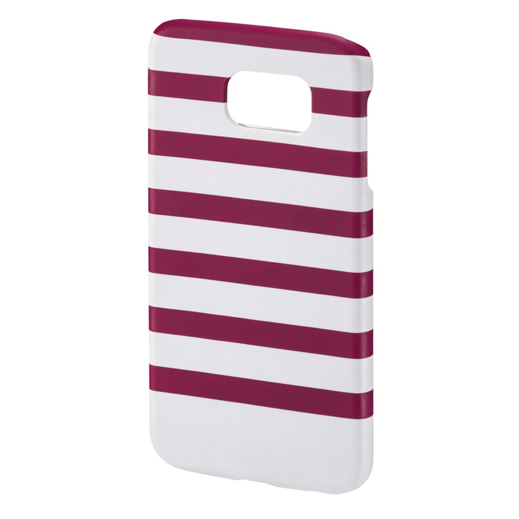 Hama Stripes Cover for Samsung Galaxy S6, magenta/white