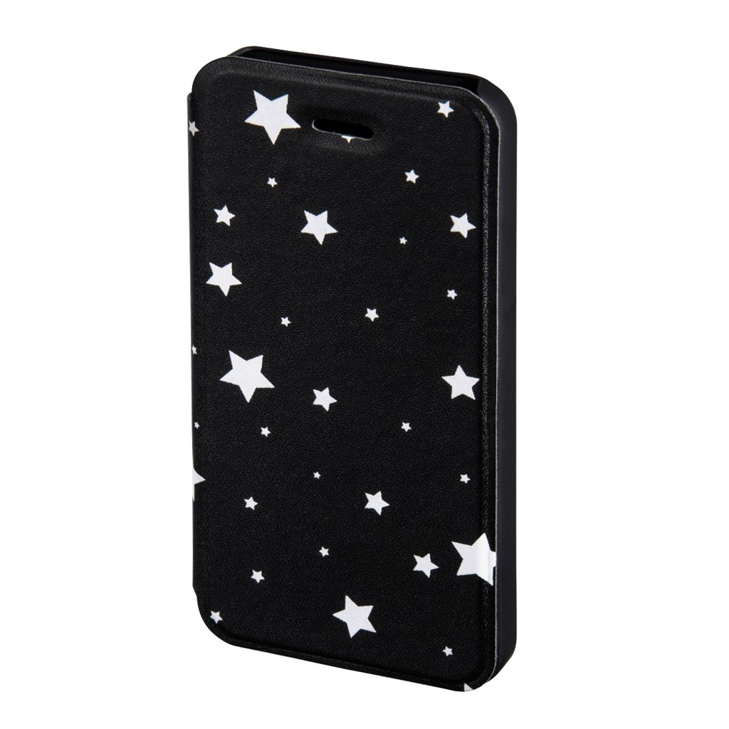 Hama Luminous Stars Booklet Case for Apple iPhone 5/5s, black/white