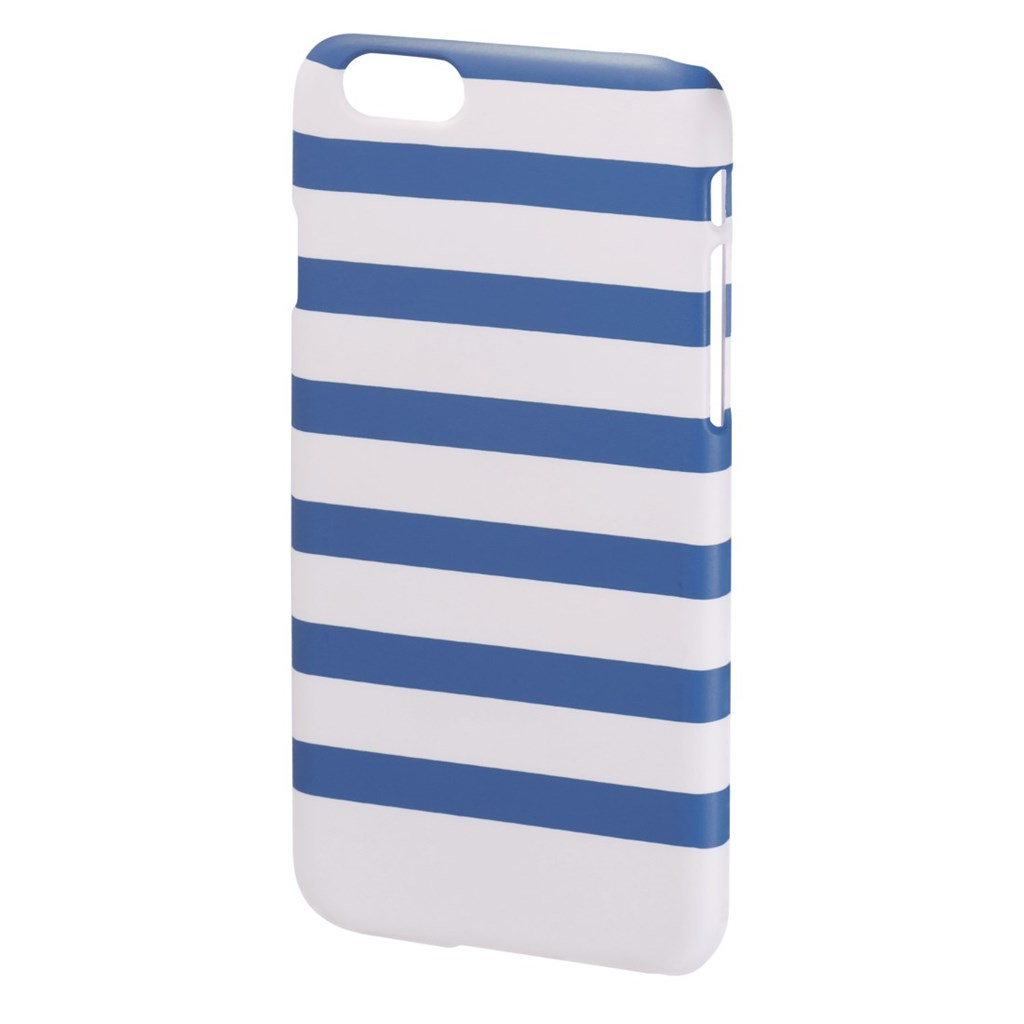 Hama Stripes Cover for Apple iPhone 6, blue/white