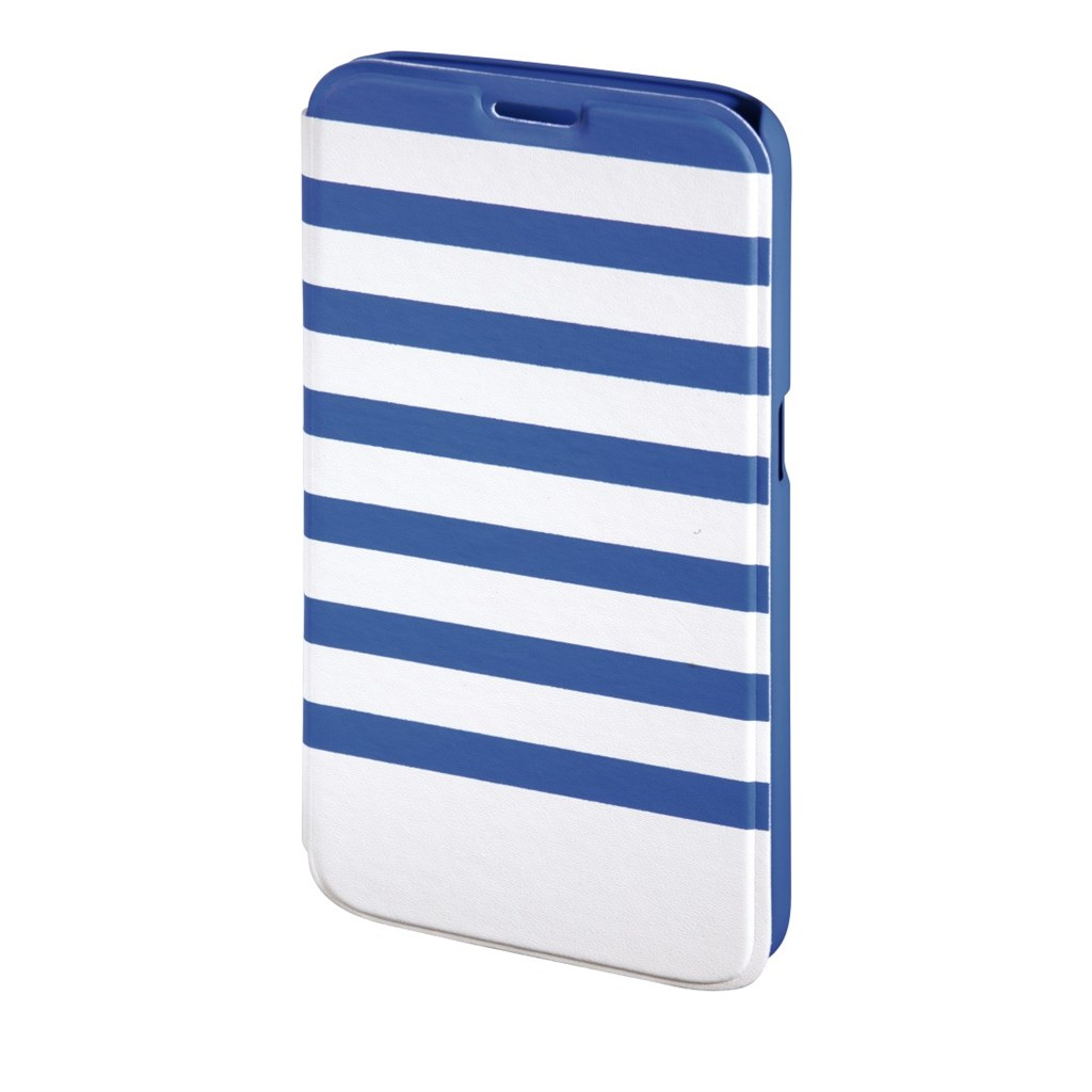 Hama Stripes Booklet Case for Samsung Galaxy S6, blue/white