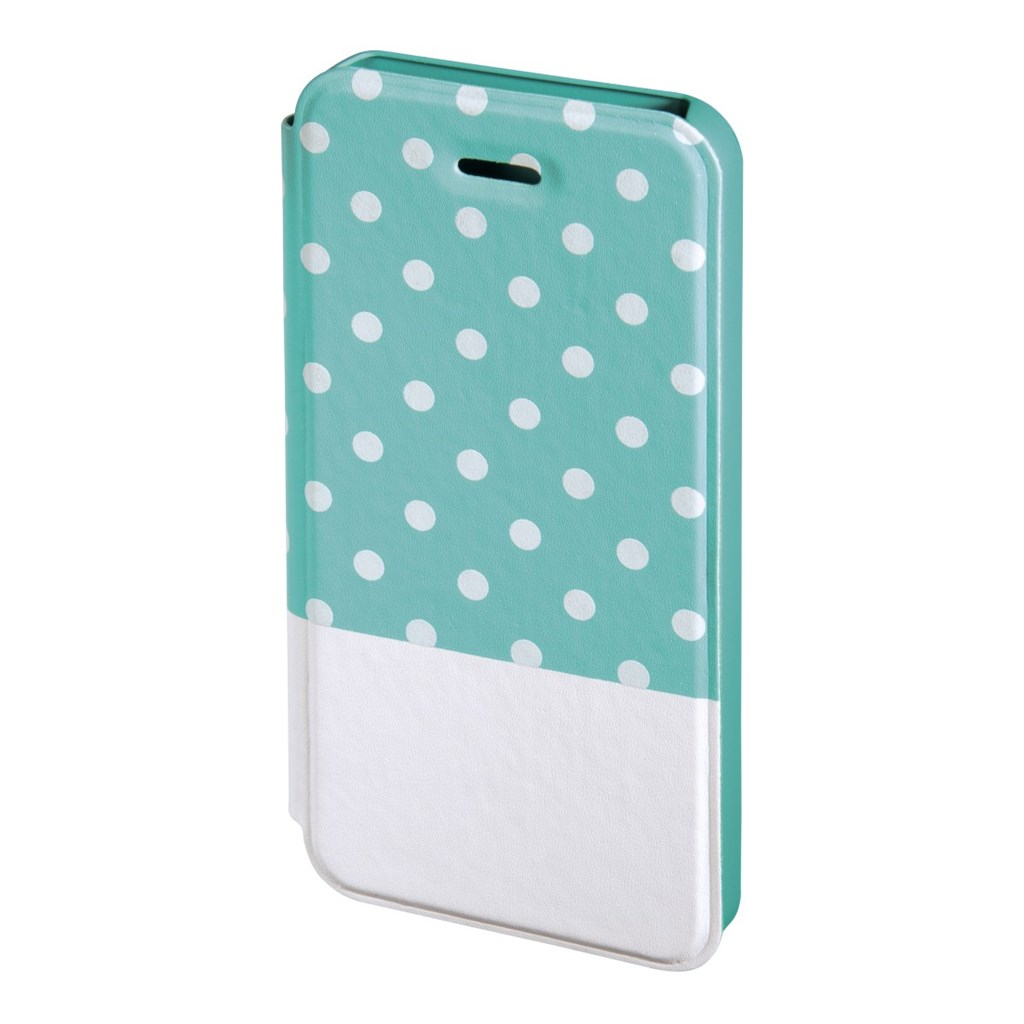 Hama Lovely Dots Booklet Case for Apple iPhone 5/5s, mint/white