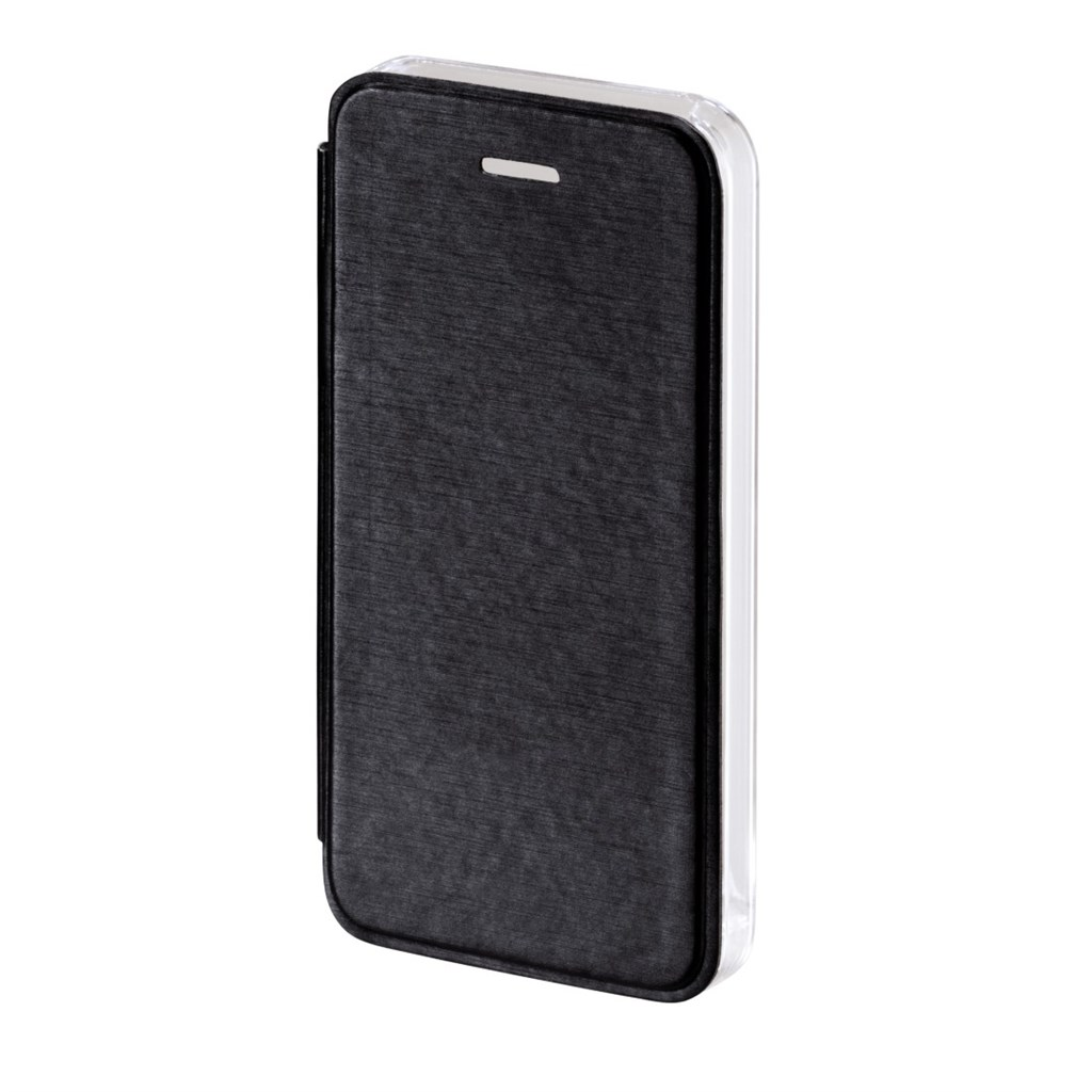 Hama Clear Booklet Case for Apple iPhone 5/5s, black