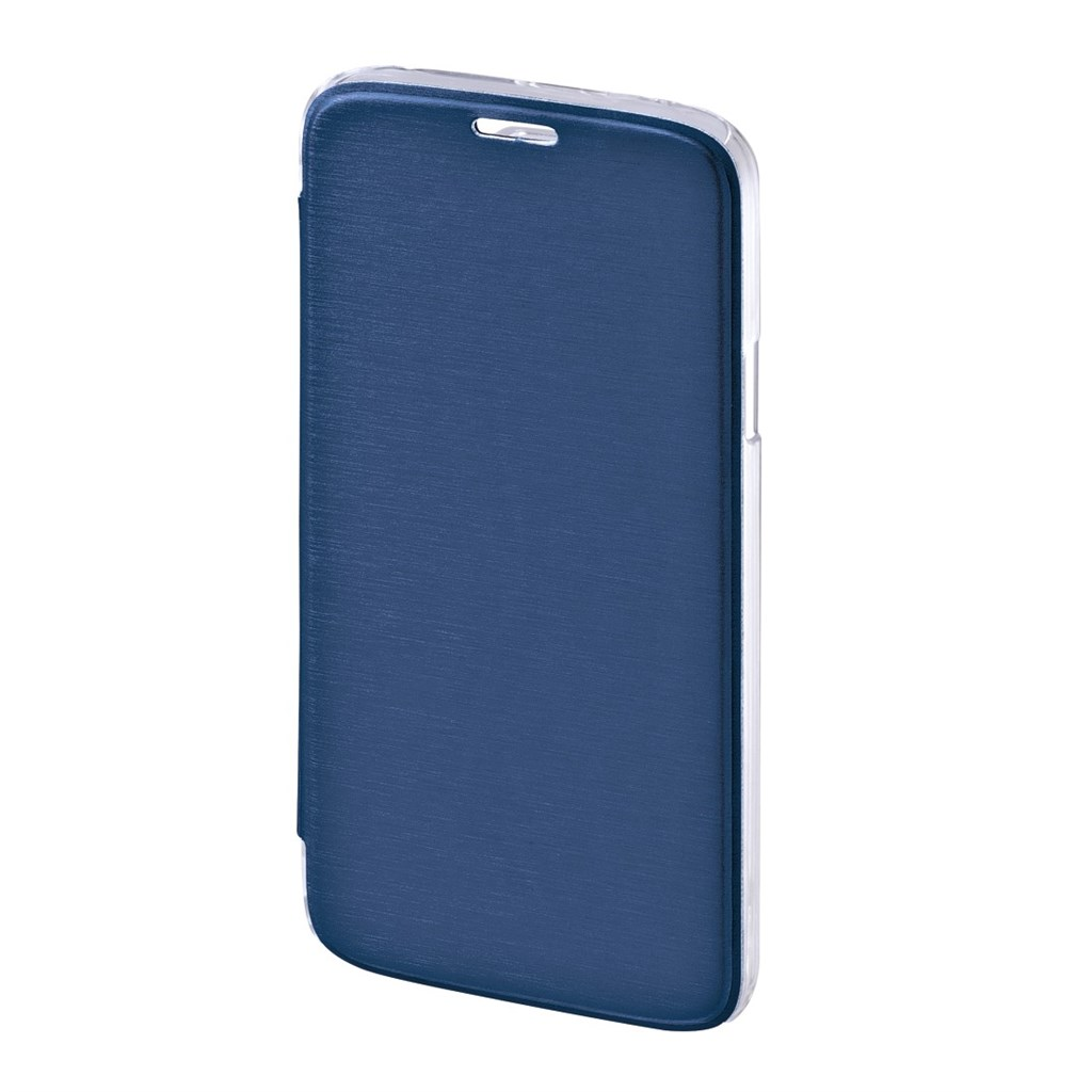 Hama Clear Booklet Case for Samsung Galaxy S5 (Neo), dark blue