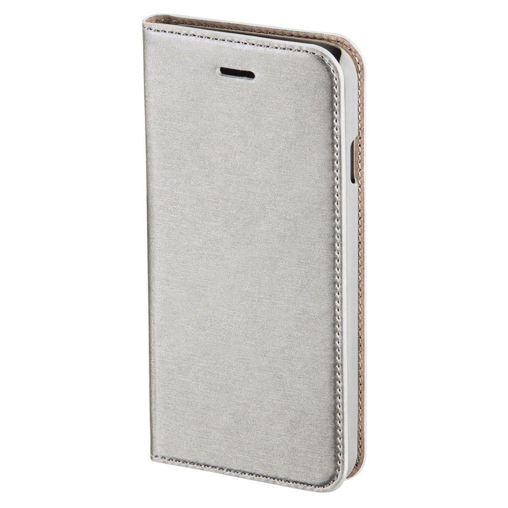 Hama Slim Booklet Case for Apple iPhone 6s, silver
