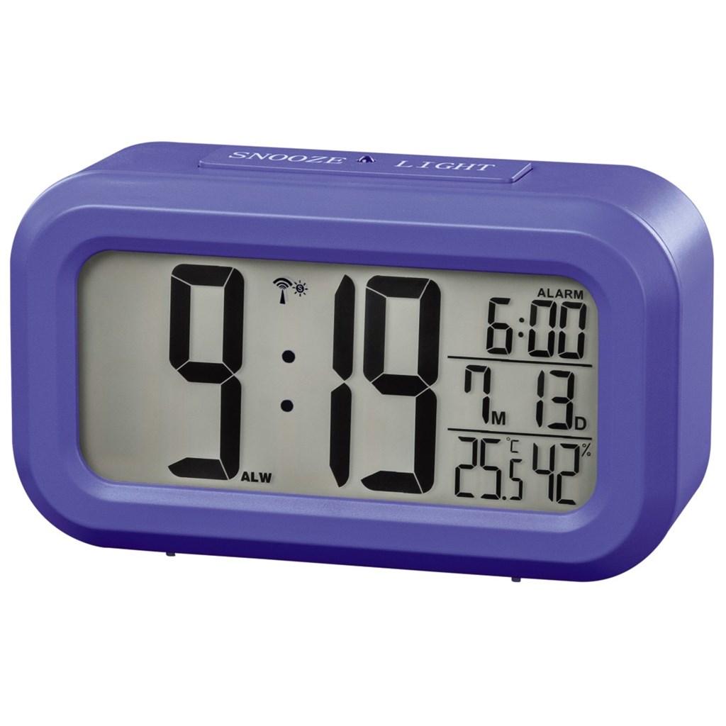 Hama RC 660, digitální budík, řízený rádiovým signálem, modrý