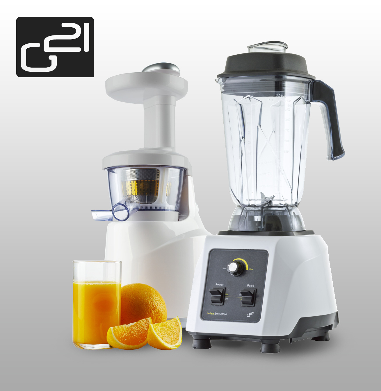 Set G21 blender perfect smoothie + perfect juicer white