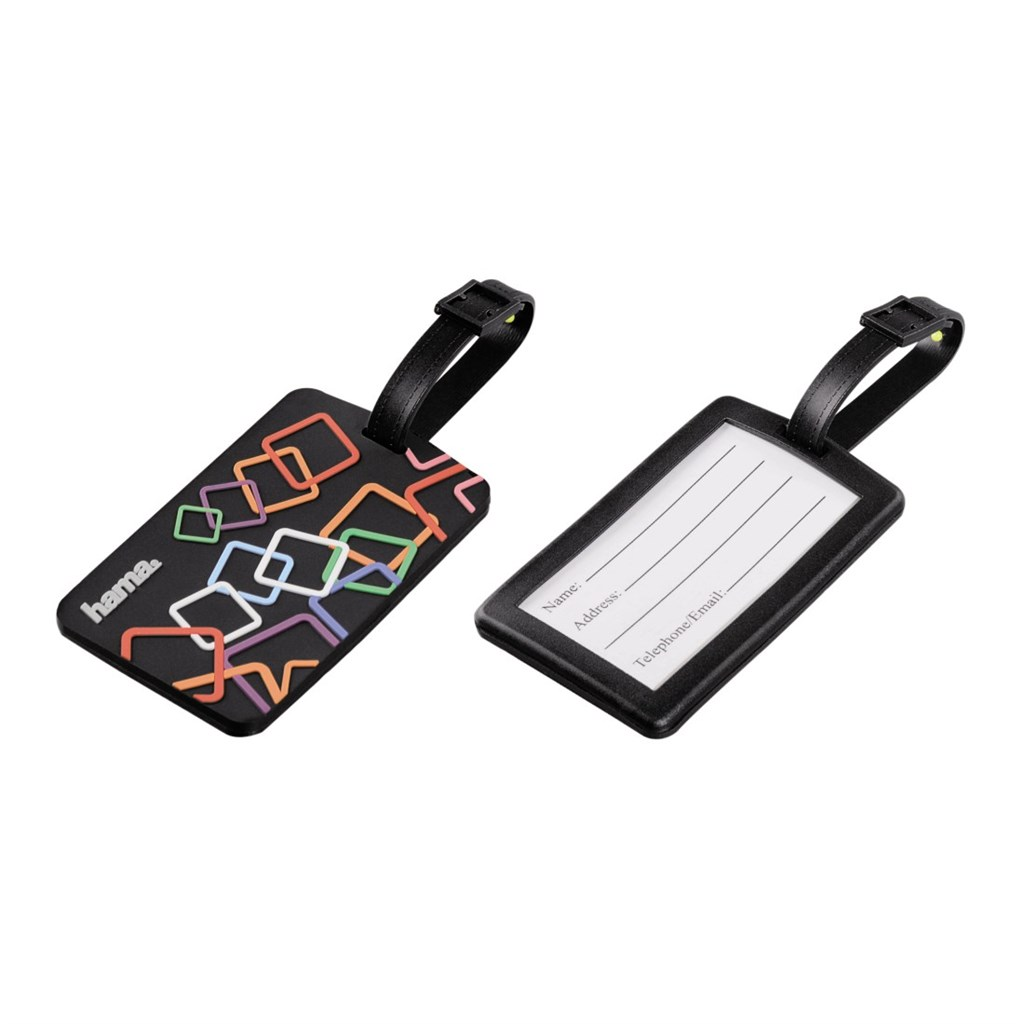 Hama Square identifikační štítek na zavazadlo, 2 ks