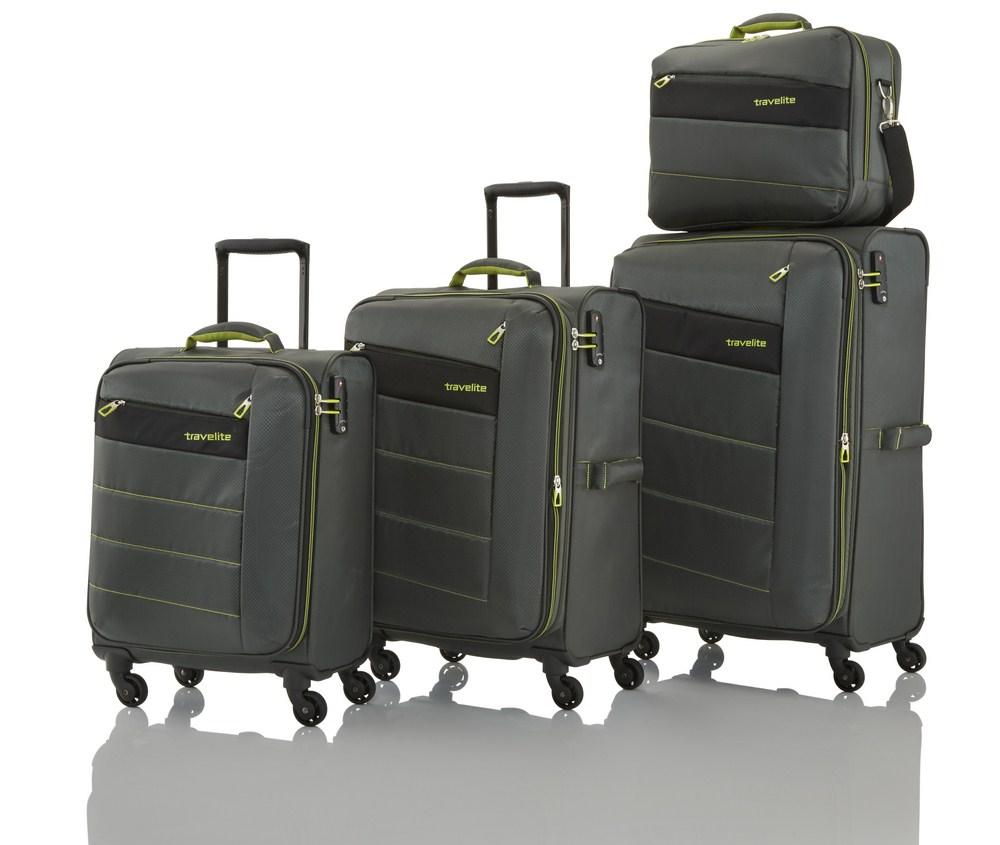 Travelite Kite 4w S,M,L Olive Green – sada 3 kufrů + BB