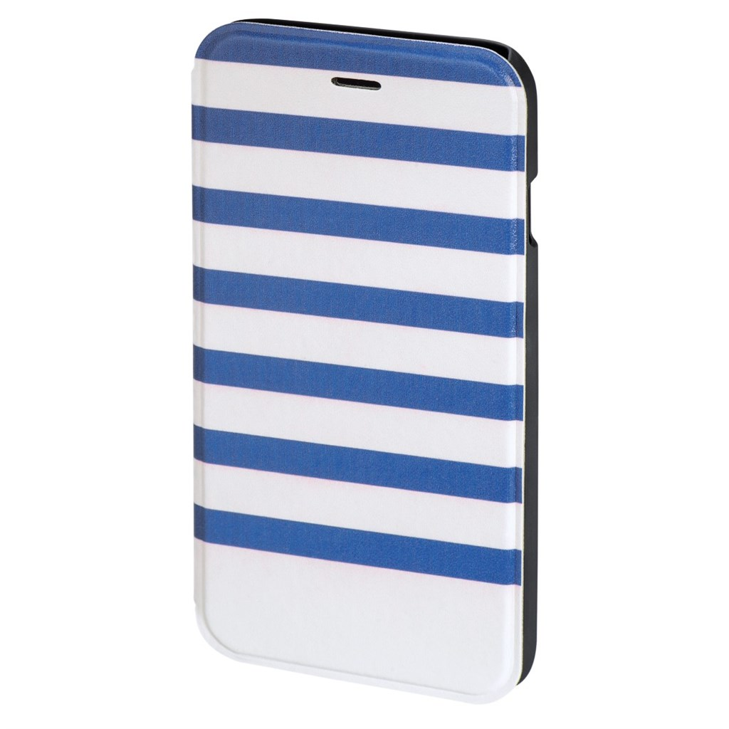 Hama Stripes Booklet Case for Apple iPhone 6/6s, blue/white