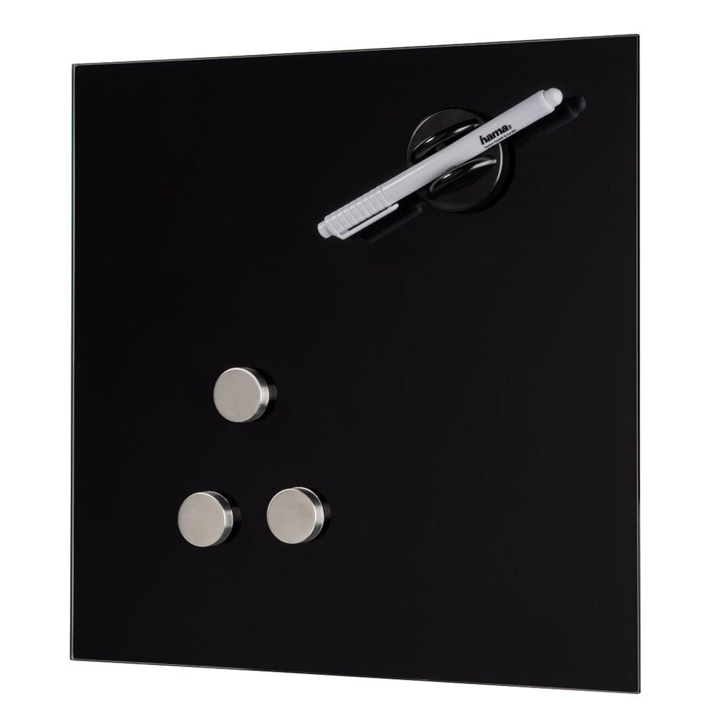 Hama skleněná magnetická tabule, 40x40 cm, černá
