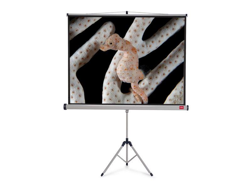 Projekční plátno NOBO se stativem, 175x133cm (4:3) - poškozený obal, zboží nové