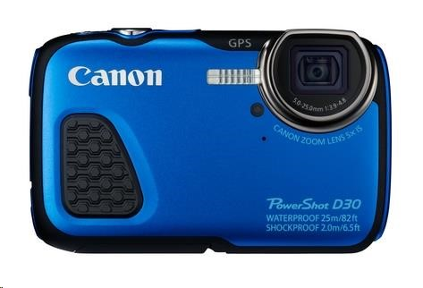Canon PowerShot D30 modrý
