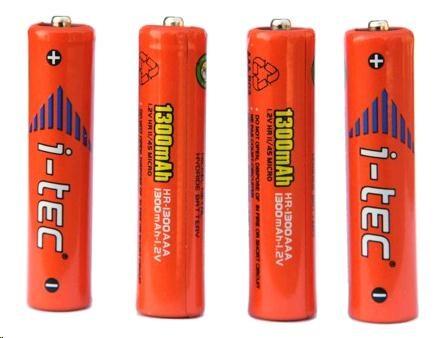 iTec AAA nabíjecí akumulátory 4ks (1300mAh)