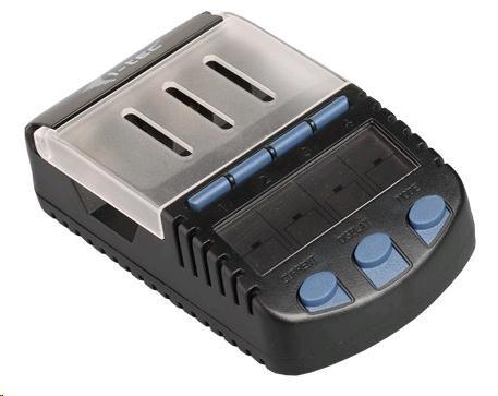 iTec nabíječka a tester pro 1 až 4 AA/AAA baterie s USB slotem 2,1A