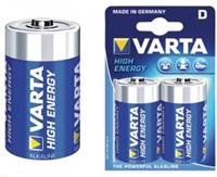 VÝPRODEJ - VARTA baterie alkalická D/LR20 1.5 V High Energy 2-blistr - VARTA-4920/2B